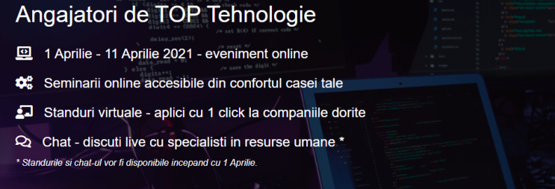 Tehnologia – campioana locurilor de munca in Romania si in 2021